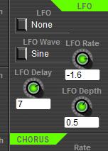 Free 4-Operator FM Synthesizer SFM4 LFO Panel