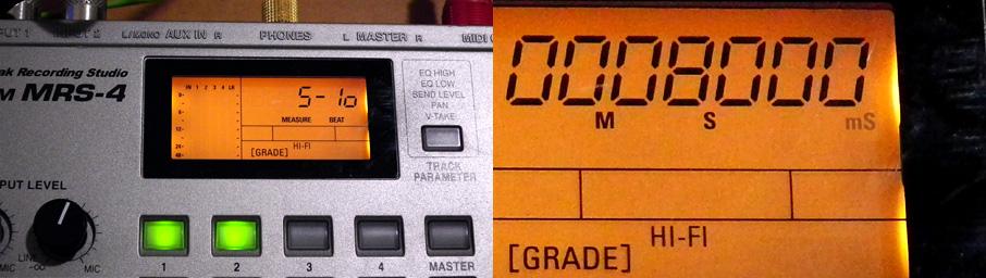 Zoom MRS-4 BPMと秒数が合ってない状態