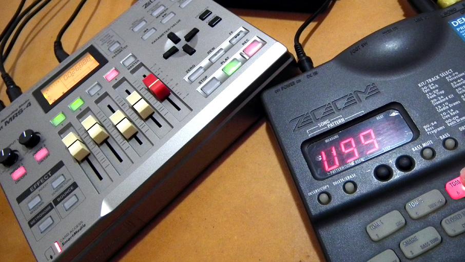 RT123のサブベース録音中