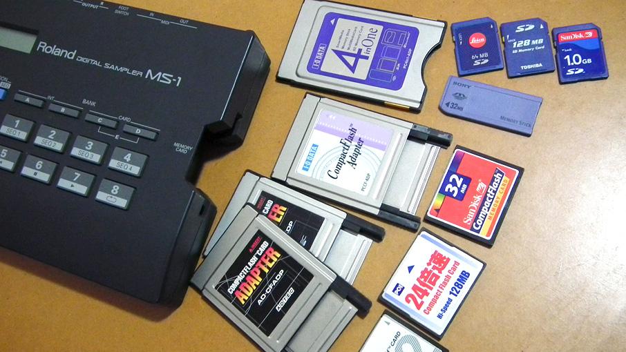 Roland MS-1で使えるアダプターとメディア