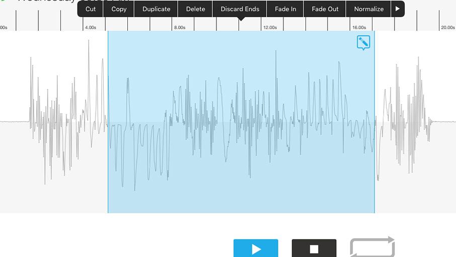 AudioCopyアプリで音声編集