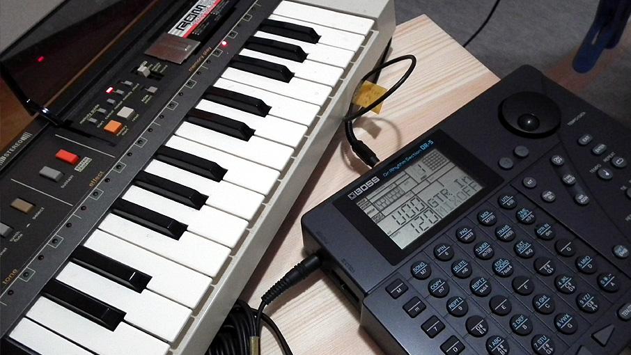 Guiter MIDIでMT-800→DR-5