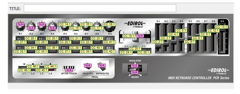 PCR Editorでの設定画面