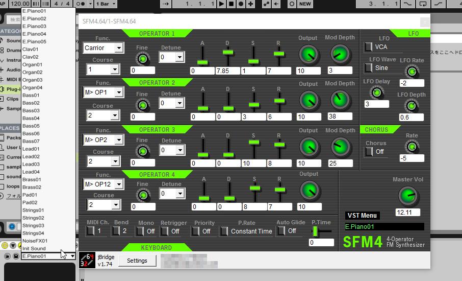 Free 4-Operator FM Synthesizer SFM4 VST2 Version