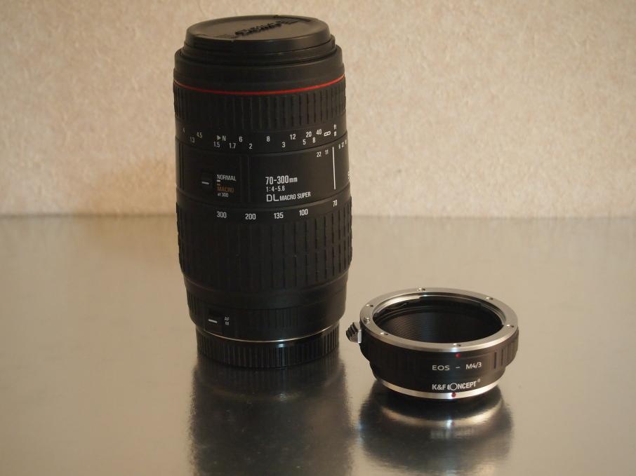 SIGMA 70-300mm F4-5.6 DL MACRO Superとマイクロフォーサーズマウントアダプター