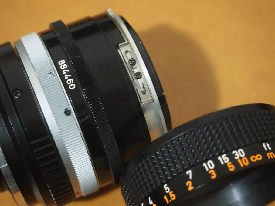 Canon FD 50mm f1.4 S.S.C ピント調整ネジ