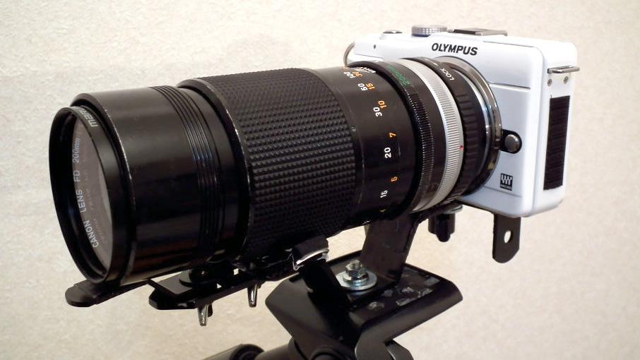 ミラーレスでCanon FD 200mm f4 S.S.C.