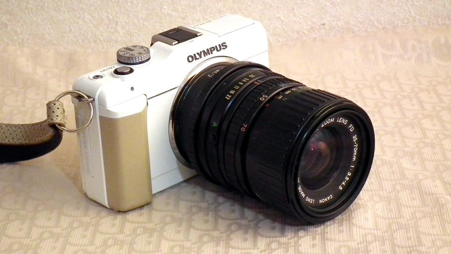 Canon NewFD 35-70mm + Olympus E-PL1s