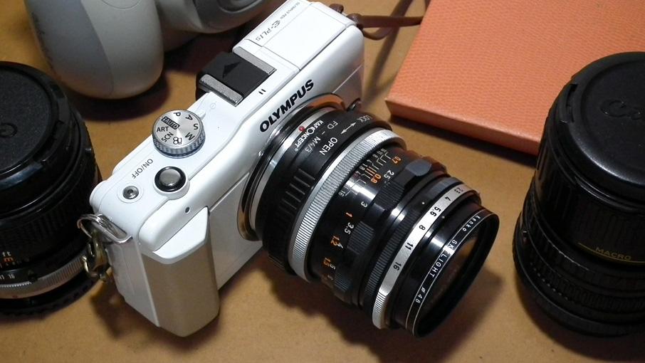 Canon FL50mmf1.8をマイクロフォーサーズで使ってみる