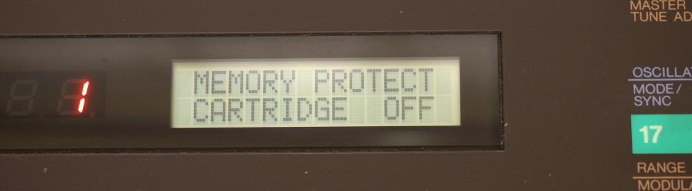 DX7用RAMカートリッジ|カートリッジのプロテクトをOFFDX7用RAMカートリッジ|カートリッジのプロテクトをOFF