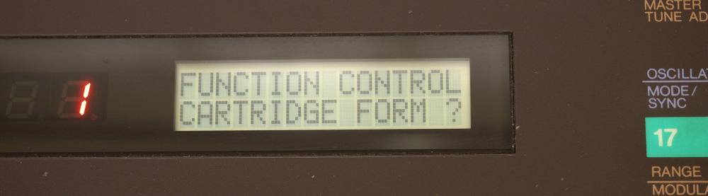 DX7用RAMカートリッジ|初期化しますか?