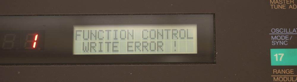 DX7用RAMカートリッジ|書き込みエラー!