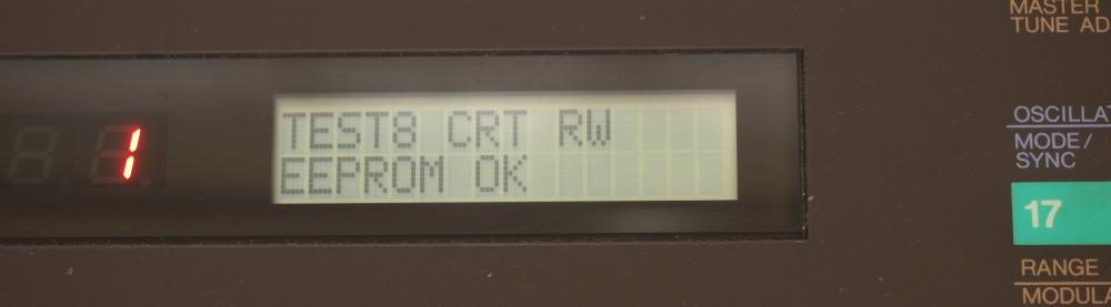 DX7用RAMカートリッジ|TEST8はOK