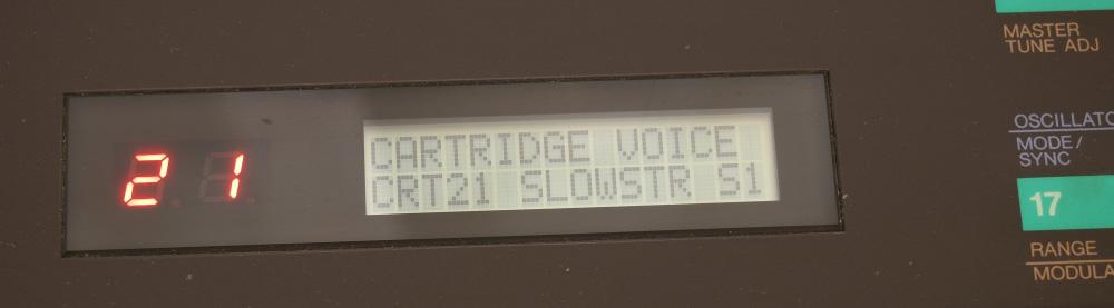 DX7用RAMカートリッジ|1コずつ登録ならOK